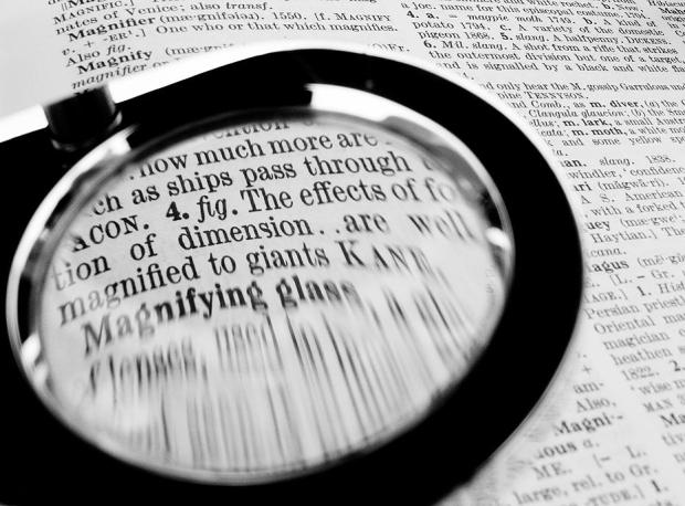 Magnifying glass by Chris Beckett, CC BY-NC-ND