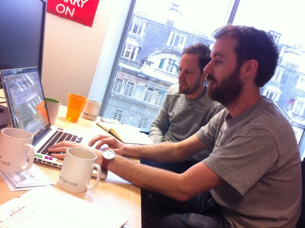 James and Guy working together