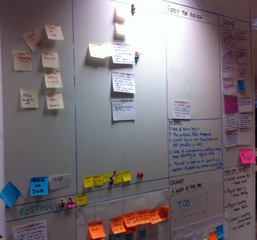 GDS project wall, showing columns