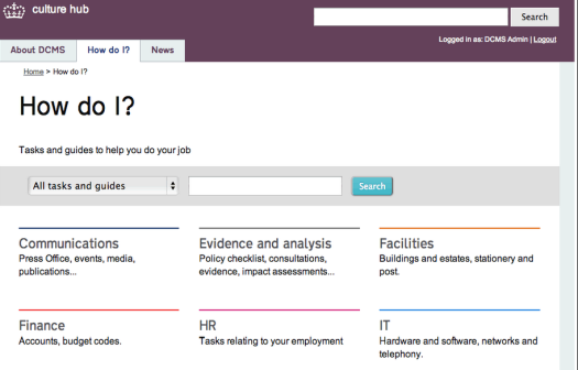 """How Do I?"" – the DCMS intranet putting user needs first"