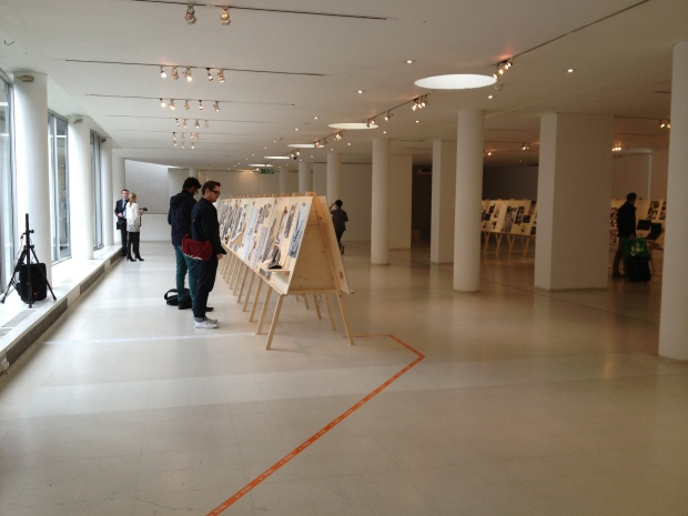 Wide shot of exhibition
