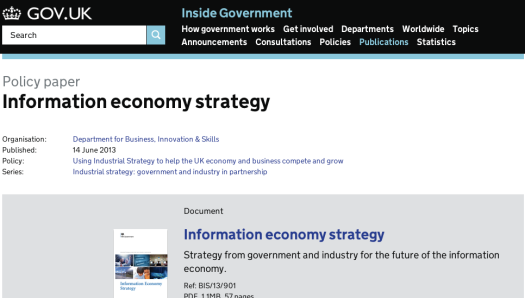 Information Econonomy Strategy screen shot