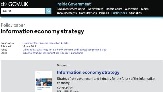 Information Econonomy Strategy screen shot