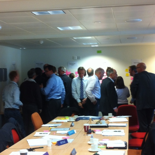 Technology leaders using the walls to arrange priorities for the next 12 months