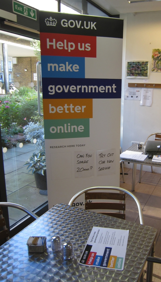 Pop-up Banner at a user research session